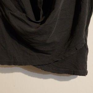 Current/Elliott Tops - NWT S Current/Elliott Washed Black Draped Tee